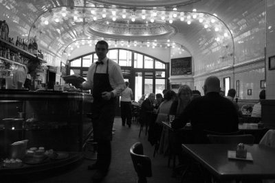 A typical cafe in Paris, France