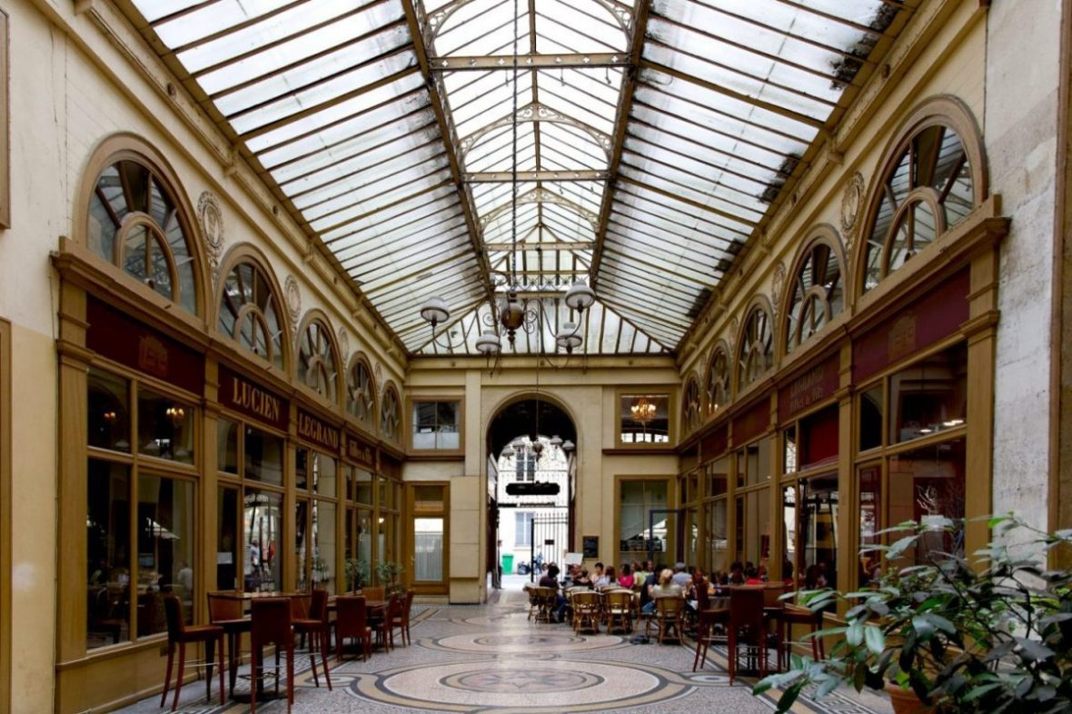 """The covered passageways of Paris, also referred to as """"galeries"""" or """"arcades"""", offer old-world elegance. Image: Marmontel/Creative Commons 2.0 license"""