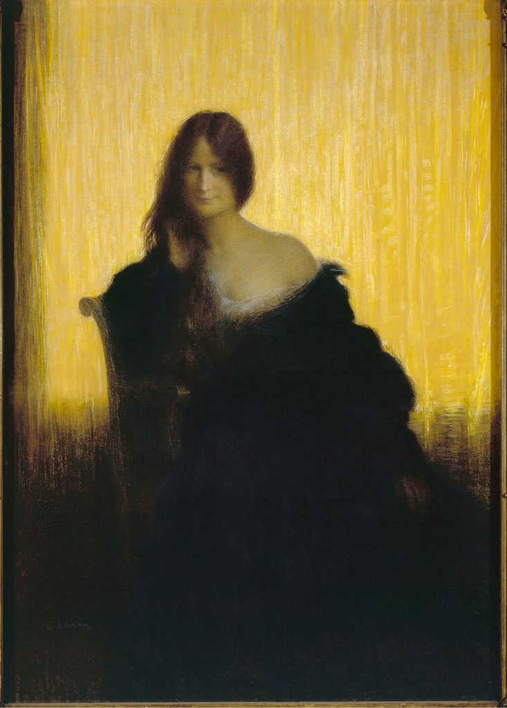 Charles-Lucien Léandre, Sur champ d'or, 1897.