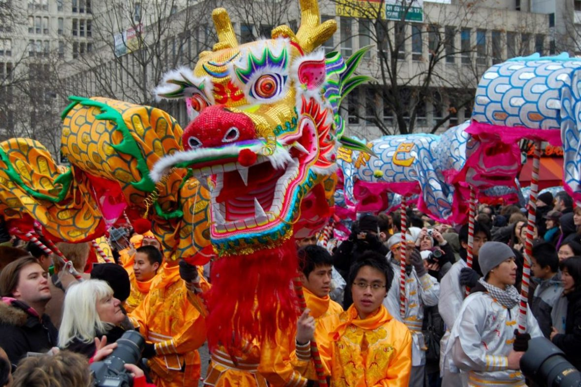 Chinese New Year generally falls in February, and celebrating is a good way to inject some color and festivity into the month. Maciej Zgadzaj/Creative Commons