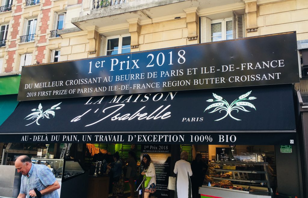 La Maison d'Isabelle proudly displays its winning credentials on its awning. Image: Courtney Traub/All rights reserved.