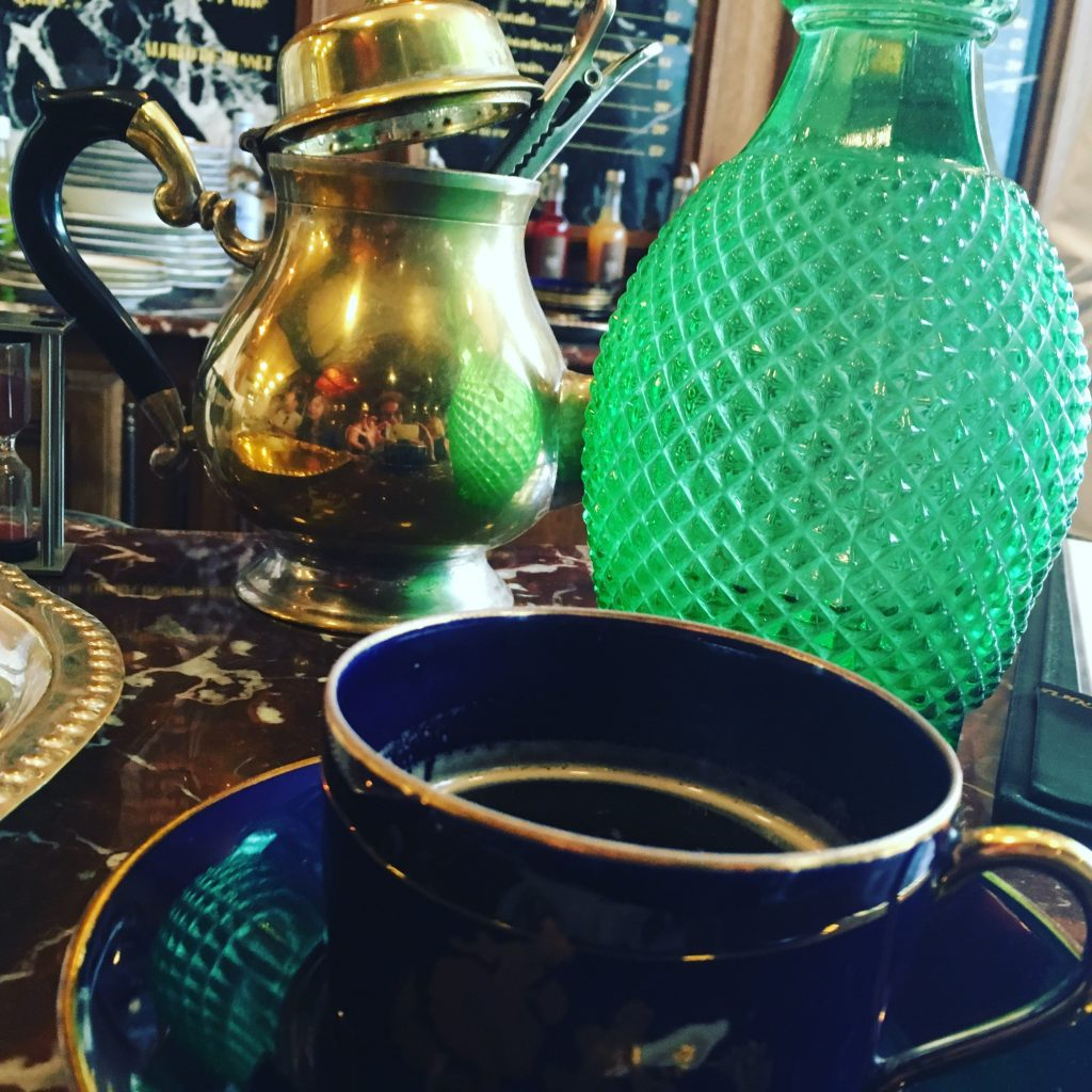 Coffee at an old-world style bar and apothecary in the Marais. Image credit: Courtney Traub/All rights reserved