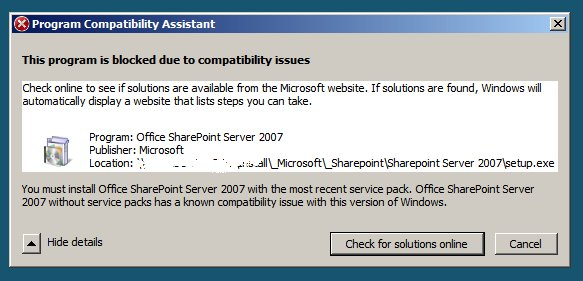 Program Compatibility Assistant