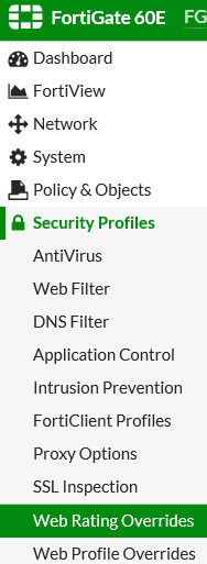 """Whitelist Domain marked as """"newly observed domain"""" fortigate"""