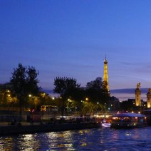 Paris sunset on the Seine