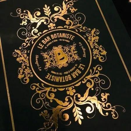 Le Bar Botaniste menu paris writing retreats june 2021 itinerary