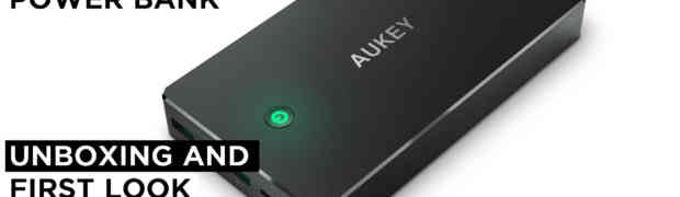 AUKEY 20000mAh Quick Charge 3.0 Portable Power Bank Charger