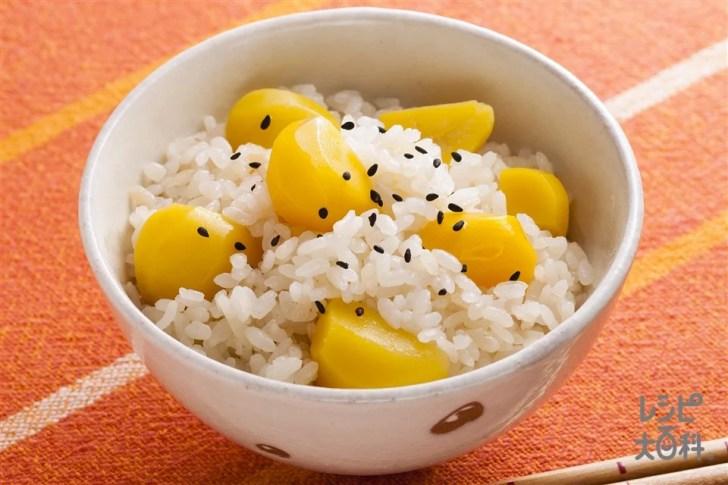 栗ごはん(米+栗を使ったレシピ)