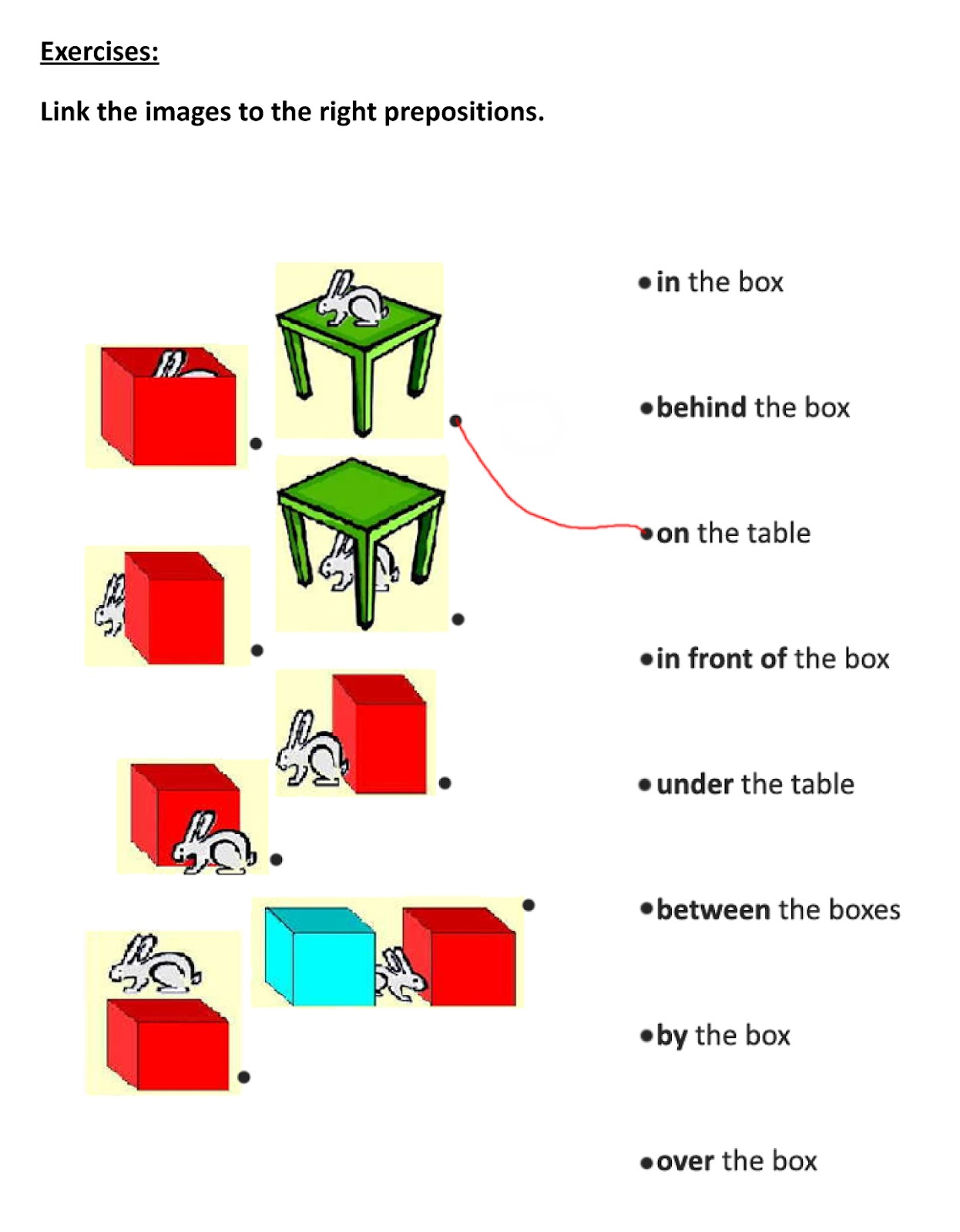Preposition Between Exercise