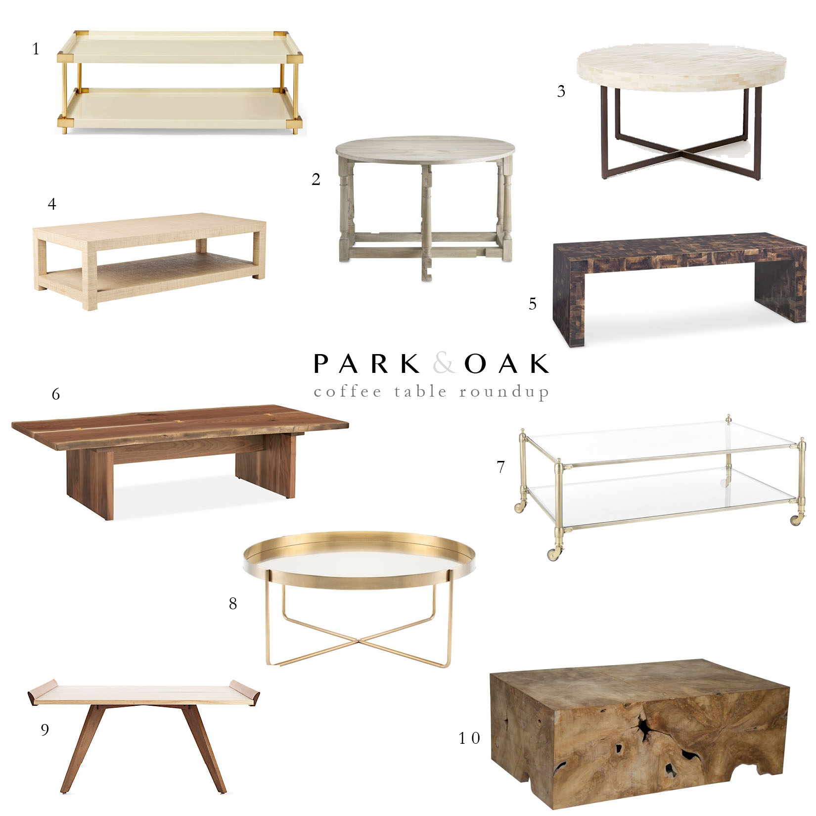 coffee table round up park and oak interior design