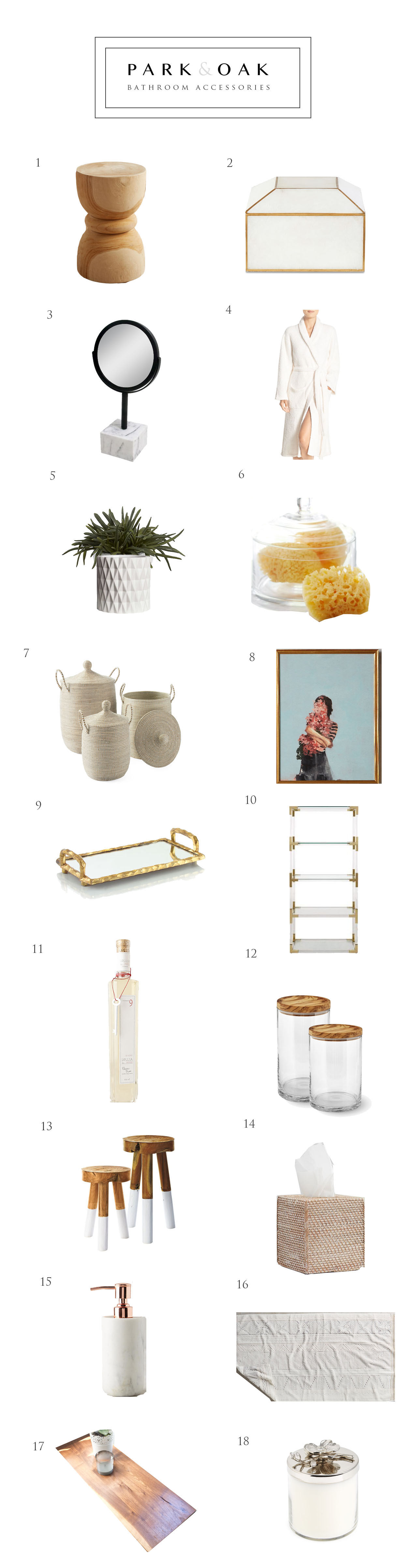 Park and Oak bathroom accessories