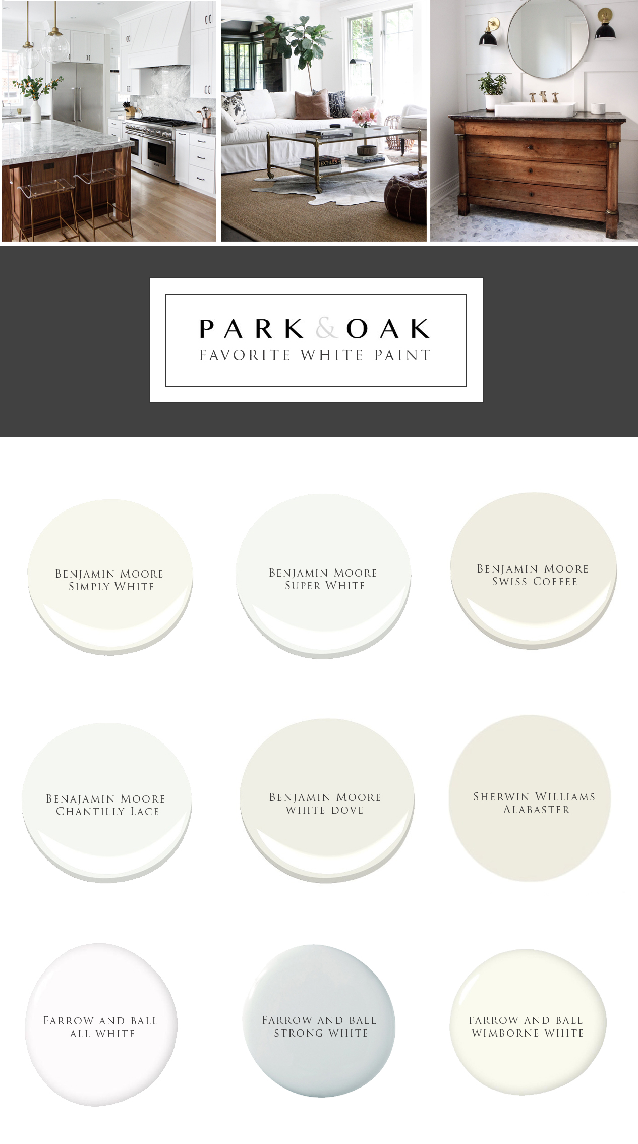 The Right White - Park and Oak Interior Design