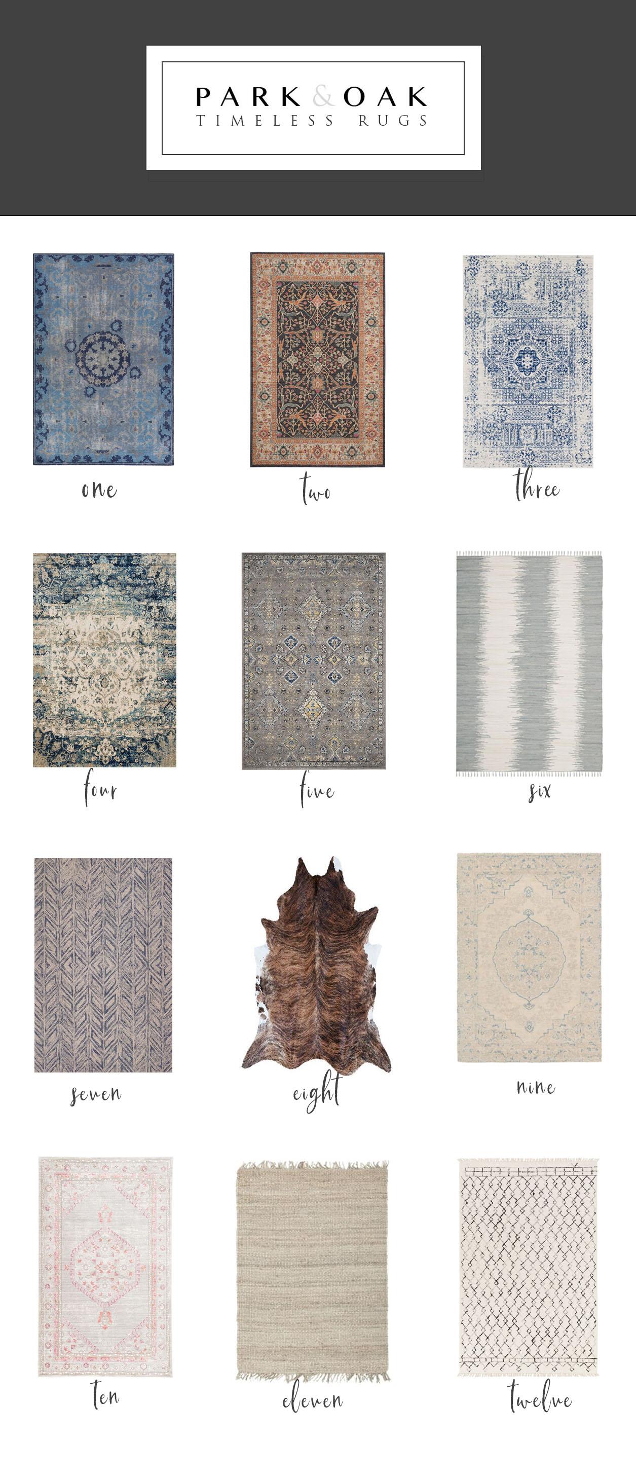 Park & Oak timeless rugs