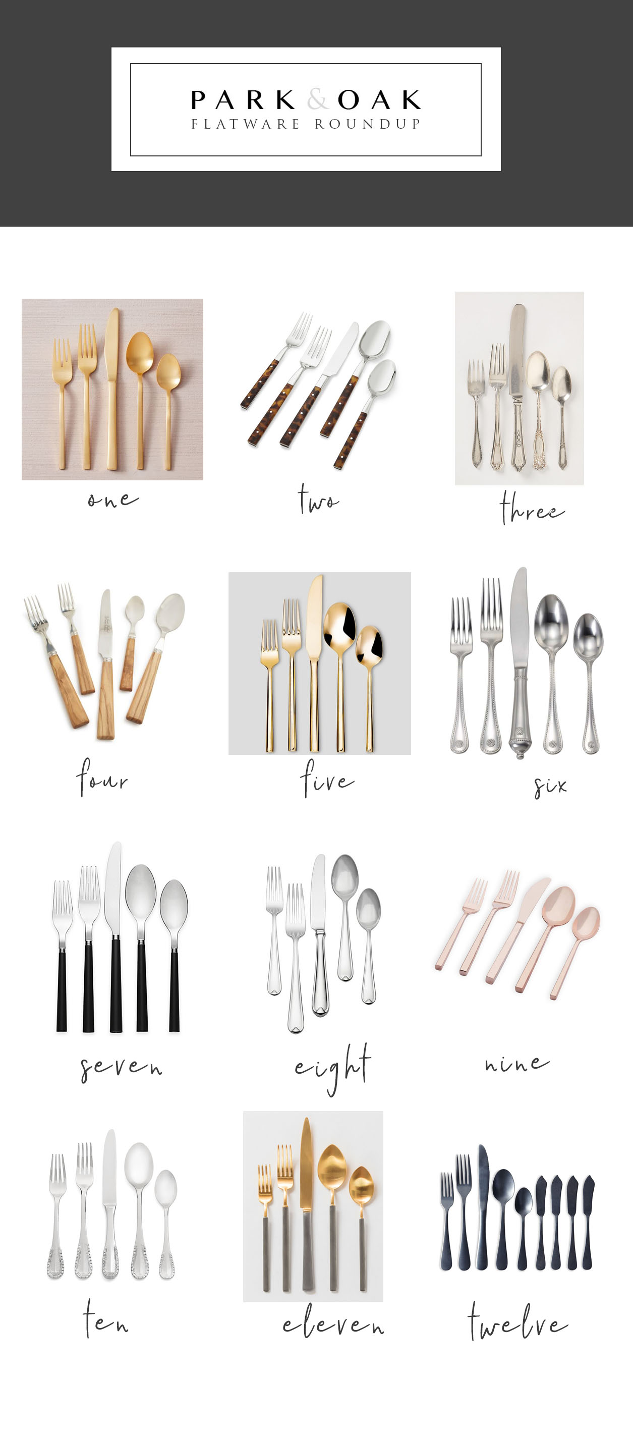 Park and Oak holiday entertaining - flatware