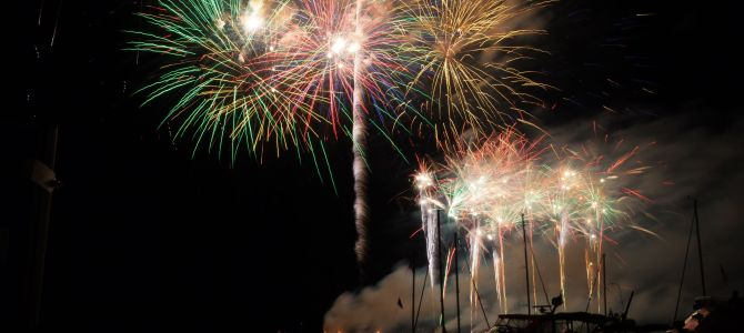 Fireworks Light Up Waterfront on July 3rd