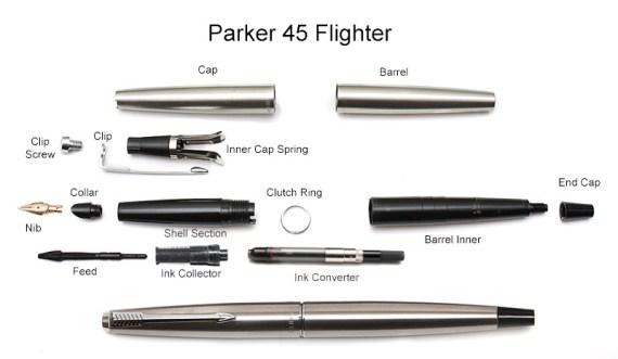Parker-45-Flighter-Stripped-Labelled