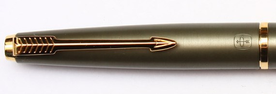 Parker 45 Coronet Cap showing the unique placement of the Parker Halo directly under the arrow clip as well as the wider clutch ring associated with the Coronet