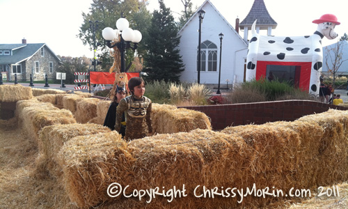 Trick or treat on mainstreet hay maze parker station historic ruth chapel background town of parker
