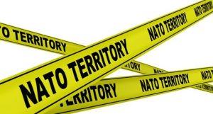 Территория НАТО (NATO territory). Желтая оградительная лента