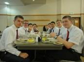 the last supper at the MTC - Elder Eady, Elder Liechty, Elder Tsai (my companion), Elder Thompson, Elder Tidwell, Elder Dayley, Elder Miner, Me, Elder Higham, Elder Gram