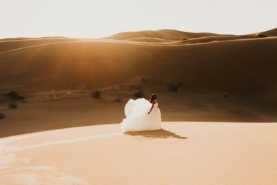 Sand Dunes Elopement White Dress