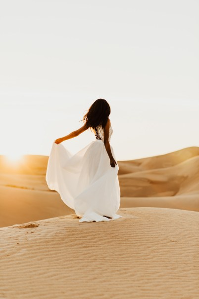 Bride at the sand dunes