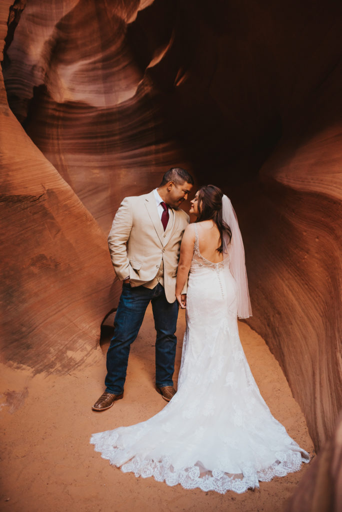 Bridal Session in Slot Canyon