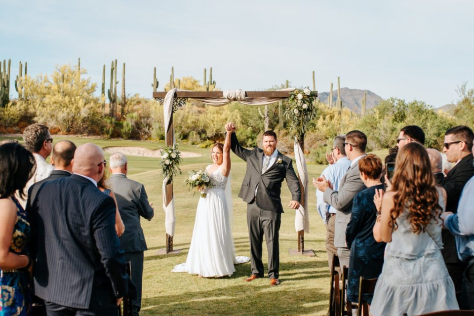 Wedding couple at Tonto Bar and Grill