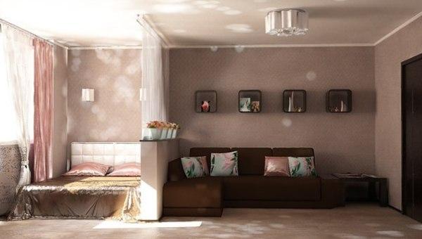 Дизайн комнаты 18 кв м спальни гостиной фото