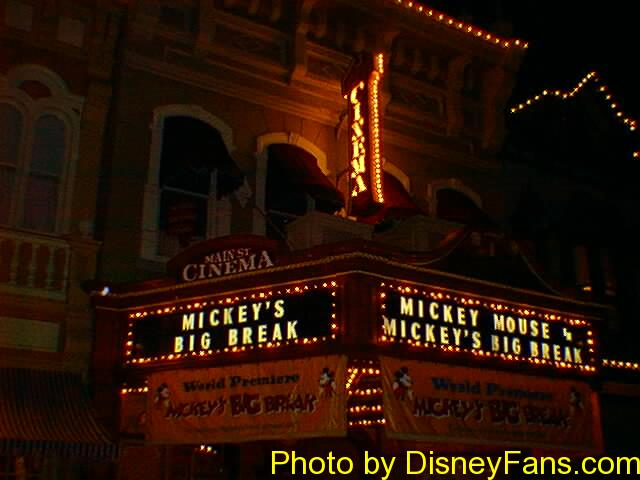 Magic Kingdom Main Street Cinema in 1996.