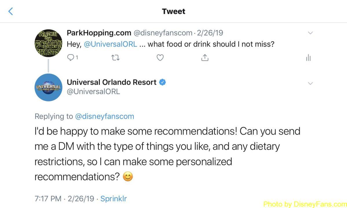 Kudos: Casey at Universal Orlando Resort Twitter
