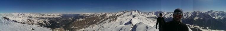 Panorama am Wolfendorn