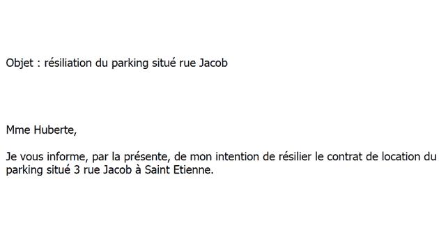 Lettre Type Gratuite De Résiliation D Un Bail De Parking