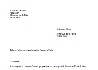 Lettre-gratuite-quittance-loyer-parking-garage-exemple