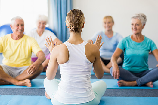 people with parkinson's doing yoga