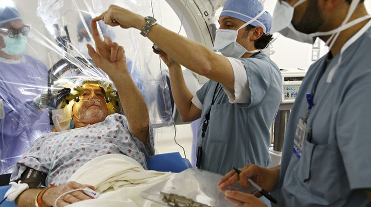 deep brain stimulation for people with Parkinson's