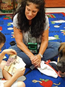 Reading 'Goes to the Dogs' at Parkland Library Program for Kids