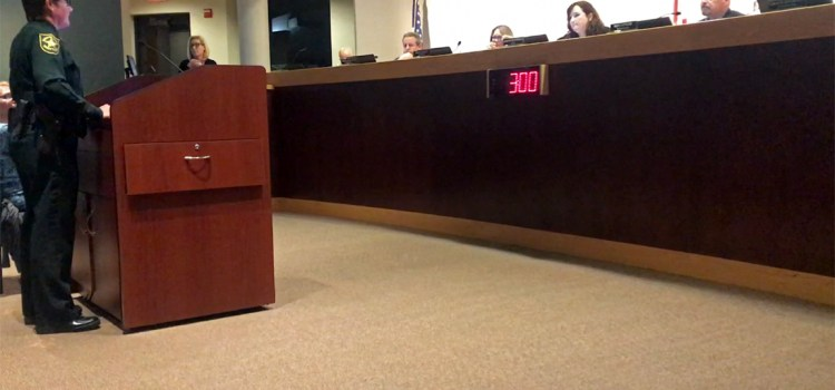 BSO Captain Jan Jordan Gives Crime Update to City Commission