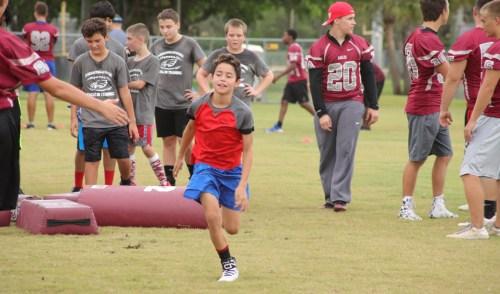 Stoneman Douglas Youth Skills Camp Held for Future Football Players