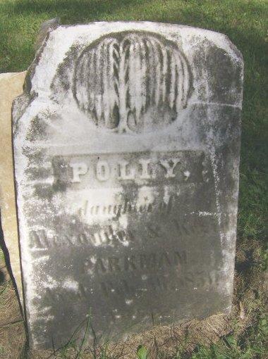 Polly Parkman daughter of Alexander and Kezia Parkman