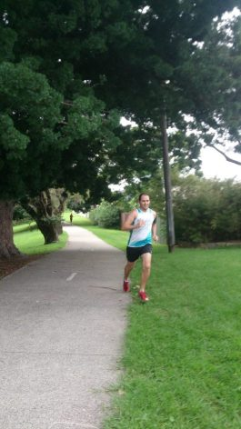 Desperately trying to avoid the Olympic plinths at the finish - Cooks River (37)