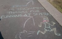 Chalk course markings - St Peters