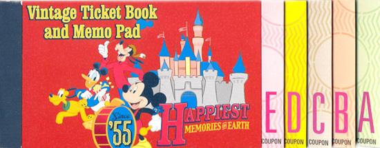 Commemorative A to E Ticket Memo Book