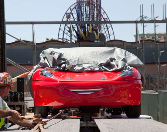 Cars Land Welcomes First Test Vehicle at Disney California Adventure Park