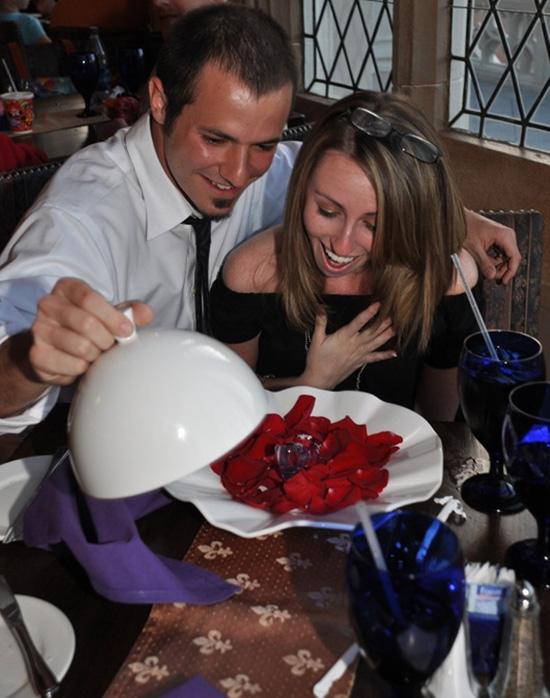 A Proposal at Cinderella's Royal Table