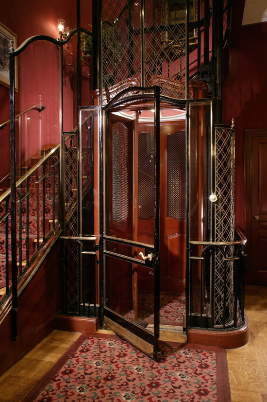Victorian-Age, French-Style Lift at Club 33