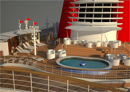New Wading Pool on Deck 12 of the Disney Fantasy