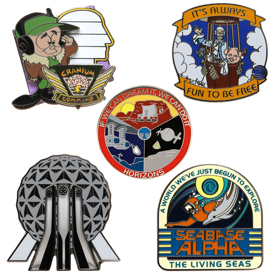 Mystery Pins From New Pin Mystery Set Help Continue the Epcot 30th Anniversary Celebration in 2013