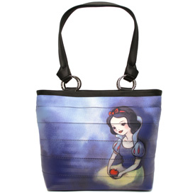 The Front of One of Four of the Totes in the Newest HARVEYS Good vs Evil Seatbeltbag Collection, Featuring Snow White