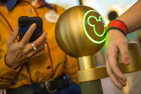 A Guest Uses the MyMagic+ MagicBand at Walt Disney World Resort
